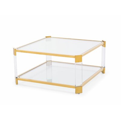 Carson Coffee Table Color: Antique Gold