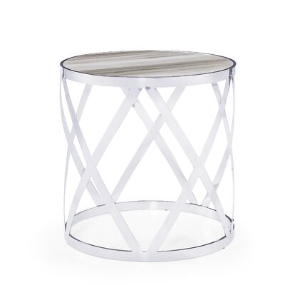 Tribeca End Table Table Top Color: White
