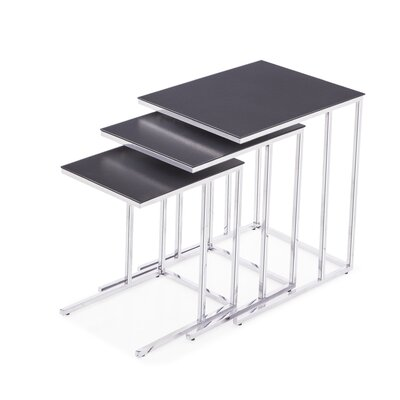 Midtown 3 Piece Nesting Tables Table Top Color: Charcoal