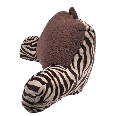 Plush Zebra Print and Sherpa Bed Rest Pillow