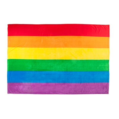 Rainbow Pride Plush Flag Blanket