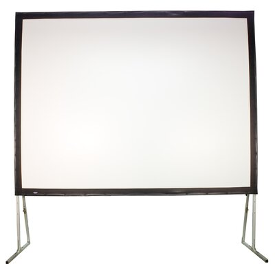 """Matte White Fixed Frame Projection Screen Viewing Area: 200"""" Diagonal"""