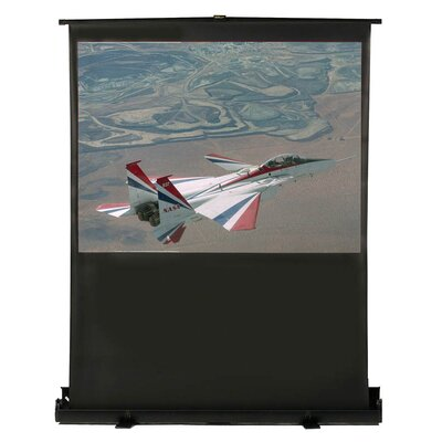"Matte White Portable Projection Screen Viewing Area: 98"" Diagonal"