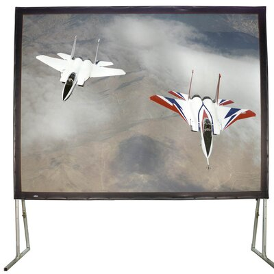 """White Fixed Frame Projection Screen Viewing Area: 57"""" H X 105"""" W"""