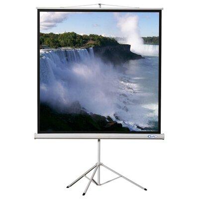 "Matte White Portable Projector Screen Viewing Area: 70"" H X 70"" W"