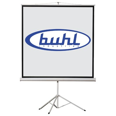 "Matte White Portable Projector Screen Viewing Area: 80"" H X 80"" W"
