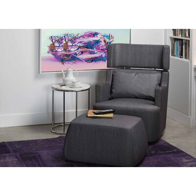 Guapo Swivel Armchair and Ottoman