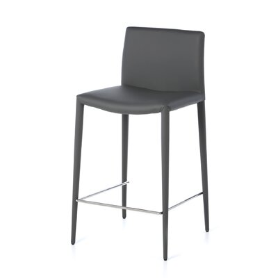 Zeno 26 Bar Stool (Set of 2) Seat: Grey