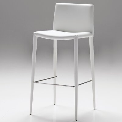 Zeno 26 Bar Stool (Set of 2) Seat: White