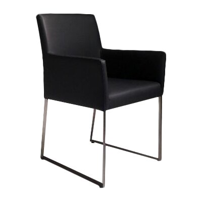 Tate Dining Arm Chair Upholstery: Black