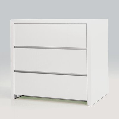 Blanche 3 Drawer Nightstand (Set of 2)