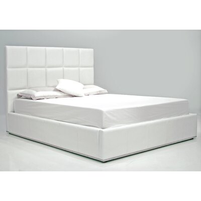 Glare Upholstered Platform Bed Size: King, Color: White