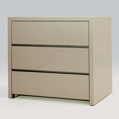 Blanche 3 Drawer Half Dresser (Set of 2) Color: Stone
