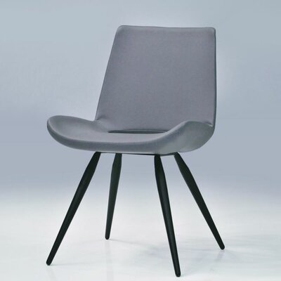 Willam Side Chair (Set of 2) Upholstery: Leatherette - Grey