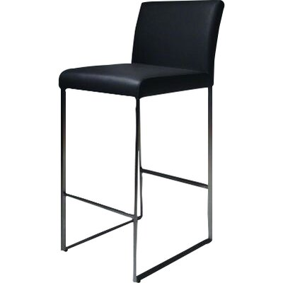 Tate 30 inch Bar Stool Upholstery: Black