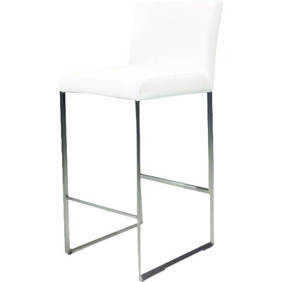 Tate 30 Bar Stool Upholstery: White