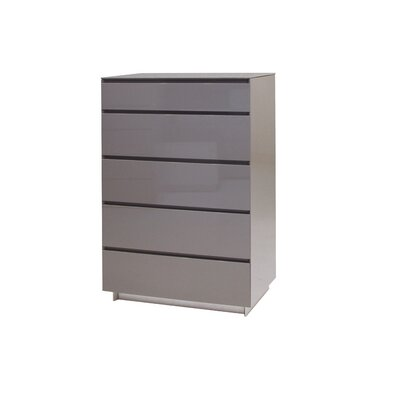 Savvy 5 Drawer Chest Color: Light Grey