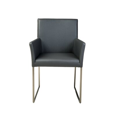 Tate Dining Arm Chair Upholstery: Grey