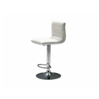 Pero Adjustable Height Swivel Bar Stool Seat: White