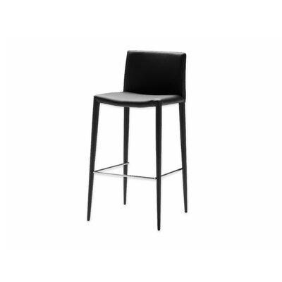 Zeno 26 Bar Stool (Set of 2) Seat: Black