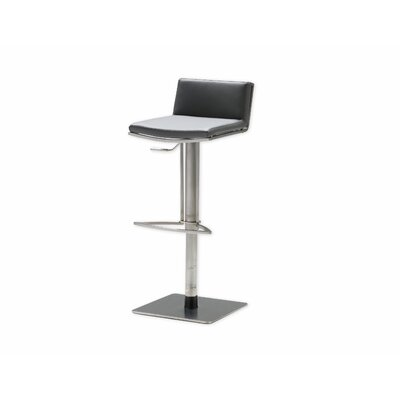 Bond Adjustable Height Swivel Bar Stool Seat: Grey