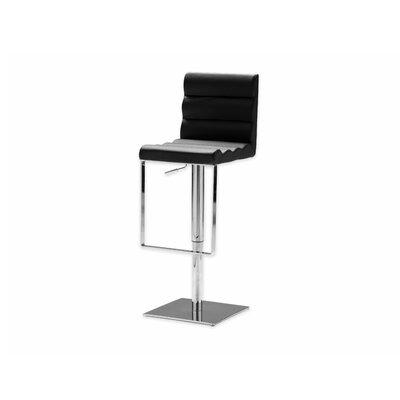 Vola Adjustable Height Swivel Bar Stool Seat: Black
