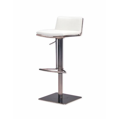 Bond Adjustable Height Swivel Bar Stool Seat: White
