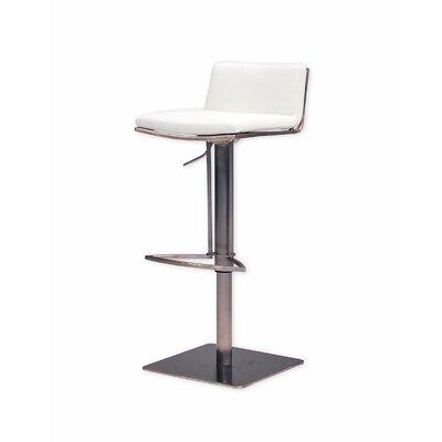 Bond Adjustable Height Swivel Bar Stool Seat: White