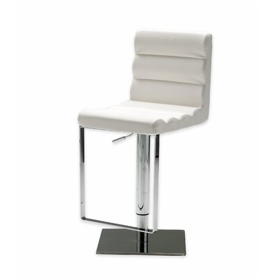 Vola Adjustable Height Swivel Bar Stool Seat: White