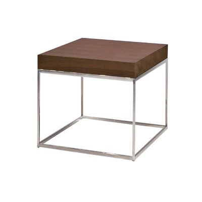 Shymier End Table Color: Walnut