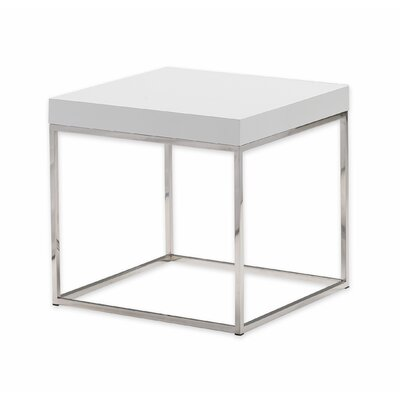 Shymier End Table Color: White