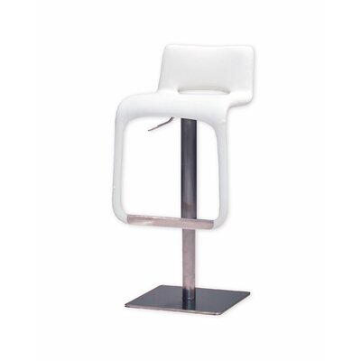 Azure Adjustable Height Swivel Bar Stool (Set of 2) Upholstery: White