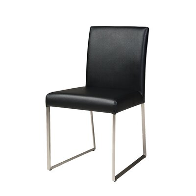 Image of Tate Dining Chair (Set of 2) Upholstery: Black