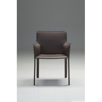 Fleur Genuine Leather Upholstered Dining Chair