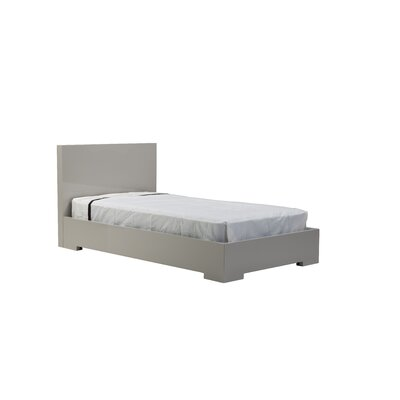Blanche Platform Bed Finish: Stone, Size: Single