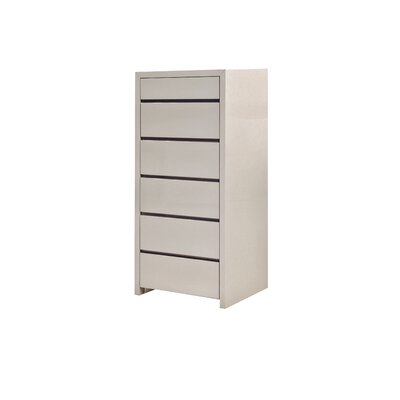Blanche 6 Drawer Lingerie Chest Color: Stone