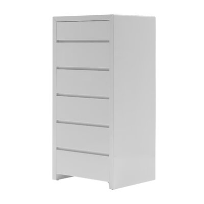 Blanche 6 Drawer Lingerie Chest Color: White