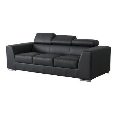 Cesca Leather Sofa Upholstery: Black