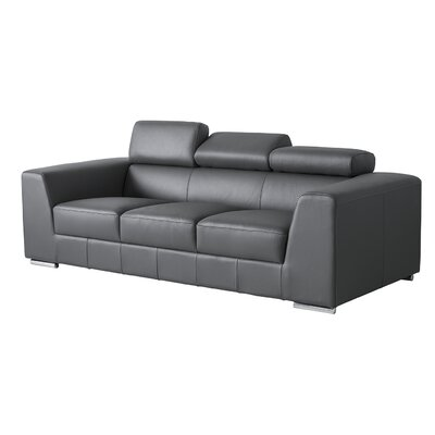 Cesca Leather Sofa Upholstery: Grey