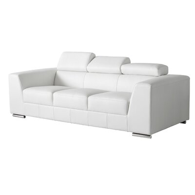 Cesca Leather Sofa Upholstery: White