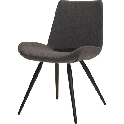 Willam Side Chair (Set of 2) Upholstery: Cashmere - Dark Grey