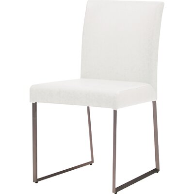 Tate Dining Chair (Set of 2) Upholstery: White