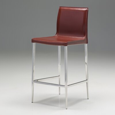 Enzo 30 Bar Stool (Set of 2) Upholstery: Oxblood