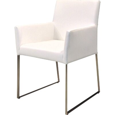 Image of Tate Dining Arm Chair Upholstery: White