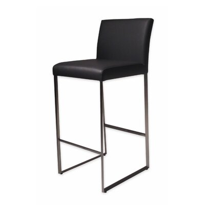 Tate 26 Bar Stool Upholstery: Black