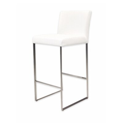 Tate 26 Bar Stool Upholstery: White