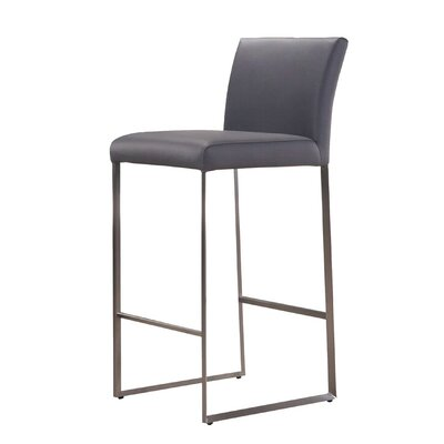 Tate 26 Bar Stool Upholstery: Grey