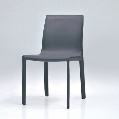 Fleur Dining Chair (Set of 2) Finish: Dark Grey