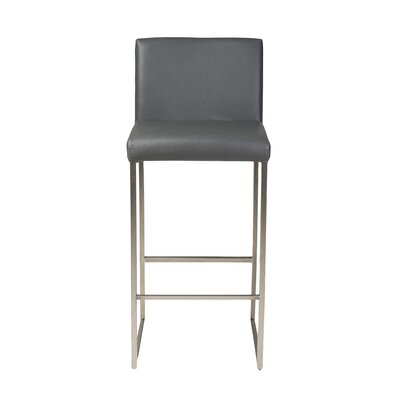 Tate 30 Bar Stool Upholstery: Grey