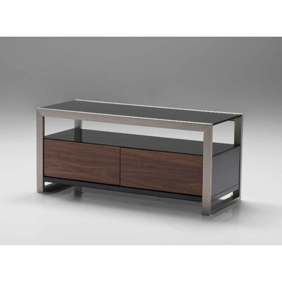 Brando 39 TV Stand Finish: Walnut and Black